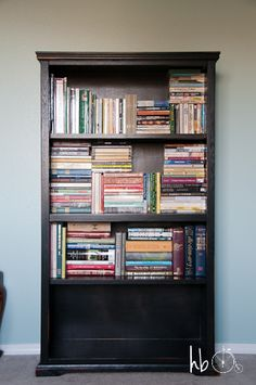 Interesting way to #organize #books - To organize book shelf: put all the books in pile on the floor, divide them into paperback, pocket paperback, and hard cover, stack like-size books together and started piling them in the shelves vertically or horizontally to stack more densely.