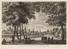 De stad Kuilenburg van t' Veerhuis te zien.