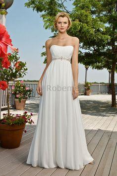 Robe de mariée moderne nature sexy robe de mariée déesse appliques
