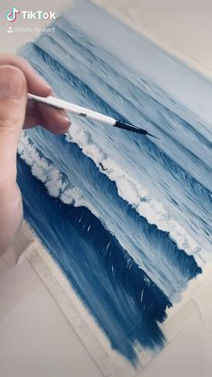 Ocean Wave Drawing, Ocean Wave Painting, Watercolor Ocean, Ocean Art, Art Oil Paintings, Ocean Paintings, Painting Process, Painting Videos, 3d Art Drawing
