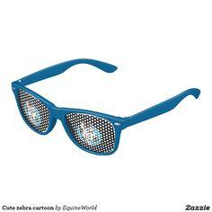 Cute zebra cartoon kids sunglasses