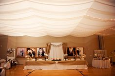 How to create a false ceiling for a cultural hall reception.