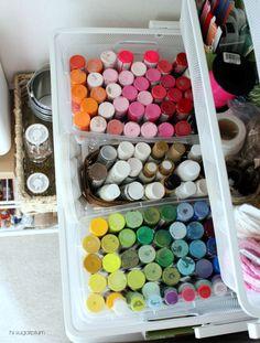 Hi Sugarplum!: Organized Craft Closet