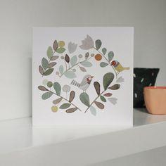 Wreath with Birds Greeting Card- Anna Walker