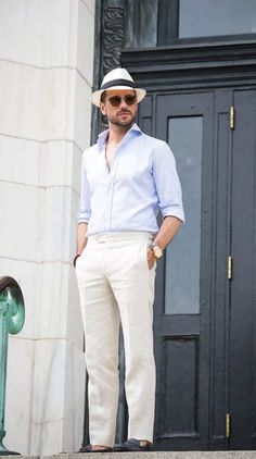 Panama hats are a great summer accessory for men