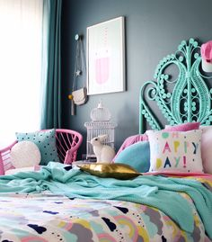 Kids bedroom ideas | girls room | colourful rooms for kids | more on the blog