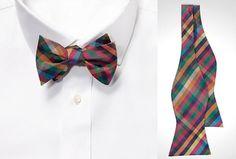 Multi Gingham Bow Tie...