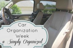 Simply organized: car organization.  Good suggestions of what to have in your glove compartment