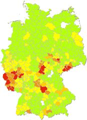German website that lists concentrations of surnames.