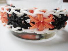 Rainbow Loom Halloween StarBurst Rubber Band Bracelet