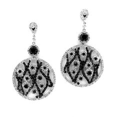 Black Diamond and White Diamond Dangle by MondiFineJewelry on Etsy