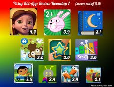 Here's the cheat sheet for some recent kids ipad apps we reviewed! http://pickykidappguide.com/app-reviews/app-review-roundup-7