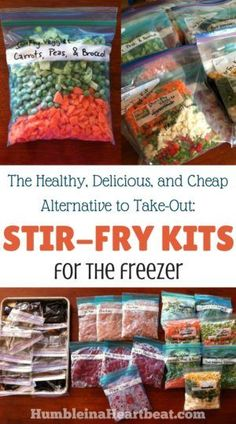 healthy meals food recipes diiner cooking Save time and money by making these freezer stir-fry kits. Theres nothing like having a healthy meal just waiting in the freezer on an insanely busy day! Freezer Friendly Meals, Make Ahead Freezer Meals, Crock Pot Freezer, Freezer Cooking, Easy Meals, Vegetarian Freezer Meals, Budget Freezer Meals, Crockpot Recipes, Cooking Recipes