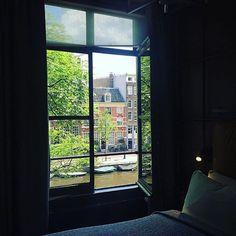 Hotel Amsterdam #thehoxton #hoxtonhotel #amsterdam #view #window #interiors