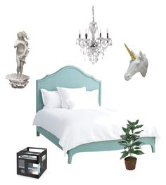 """""""simple vaporwave bedroom"""" by awesomepolarbear ❤ liked on Polyvore featuring interior, interiors, interior design, home, home decor, interior decorating, Redford House, Bobby Berk Home and bedroom"""
