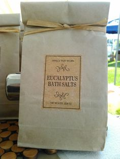 Eucalyptus Scented Bath Salts Bag 16 oz by ThingsThatWork on Etsy $12