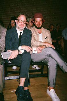 Bruce Pask and Josh Peskowitz at NYFW.
