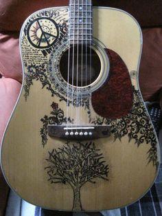 Sharpie art on guitar