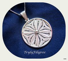 Handmade Sterling Silver Filigree Maltese Cross by TrulyFiligree
