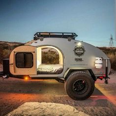 Oh I want one! Off road camper trailer.