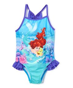 4eb9c045841db4 Another great find on #zulily! Disney Princess Ariel One-Piece Swimsuit -  Infant
