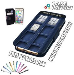 Blue-Police-Phone-Box-Dr-Who-Inspired-Mobile-Leather-Flip-Wallet-Case-Cover