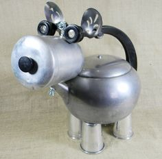 TREATS - A Chunky Robot Dog - Reclaim2Fame - assemblage sculpture