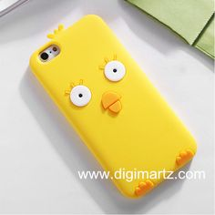 iphone 6 4.7/ 5.5 inch Silicion Case Cute Little Yellow Chicken