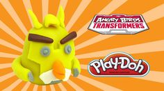 playdoh angry birds tranformers bumblebee - how to make with playdough