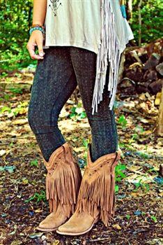 Fringe stivali ragazza del sud - Tan $349.99 #SouthernFriedChics