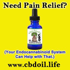 We all have some sort of pain.  Consider #healing yourself #naturally with #CBD (#Cannabidiol) #Hemp Oil from That's #Natural! http://cbdoil.life/pages/thats-natural