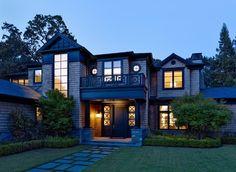 Urbane shingle style Residence - traditional - Entry - San Francisco - Polsky Perlstein Architects
