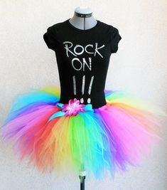 Neon Rainbow Pixie Tutu Brilliant For Preteens by TiarasTutus