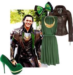 Loki style - believe it or not, I would probably wear this outfit. And I'm sure no one would think of Loki unless I told them. :)