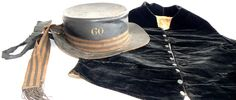 """This seaman's hat and waistcoat from the early 19th century is the newest addition to our Well-Dressed Men Royal Navy Uniforms Extant Garments album. It is probably an example of """"shore-going…"""
