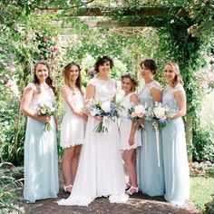 abideMaids | Mint Dress & Ivory Lace Top Photography by: Katie Hamilton photography