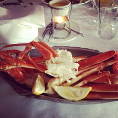 Steamed Crab Legs With Drawn Butter