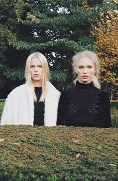 o2w:  Kim and Linde photographed by Sophie van der Perre, styled...