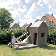 Garden kids toys and design playhouse- Garden kids toys and design playhouse -. - Garden kids toys and design playhouse- Garden kids toys and design playhouse – - ideas kids playhouse Backyard Playground, Backyard For Kids, Backyard Garden Design, Backyard Landscaping, Terrace Garden, Casa Kids, Design Jardin, Kids Play Area, Kids Fun