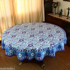 Indian Round Tablecloth 70 Summer Home Decorations Table Floral Cloth Cotton | eBay