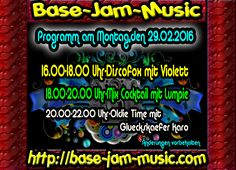 Habt Spass und Fun zu guter Musik bei uns auf http://base-jam-music.com Wann ? Natürlich an diesem Montag ,aufi gehts
