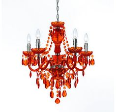 AF Lighting 8522-5H Chrome Orange Five Light Mini Chandelier from the Angelo Home Collection