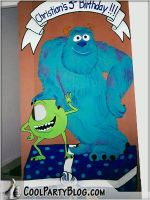 great ideas for a Monsters Inc. party.  This movie is a fave at our house