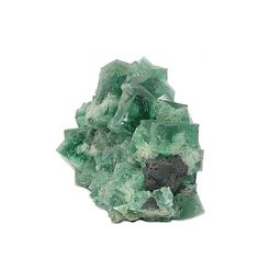 Green English Fluorite Cube Crystals with Galena by FenderMinerals