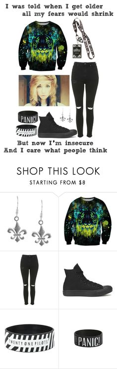 """Stressed Out // Twenty One Pilots"" by im-punk-not-dead ❤ liked on Polyvore featuring Jewel Exclusive, Chicnova Fashion, Topshop and Converse"