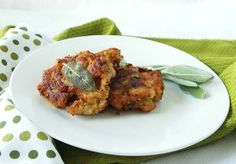 Apple Sage Stuffing Latkes - perfect for using up leftover stuffing next week.