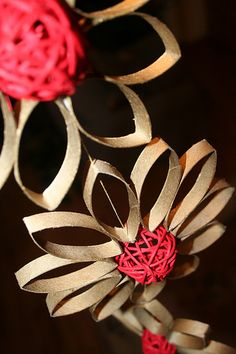 Paper Roll Crafts for Decorations | Recycled Christmas Decoration