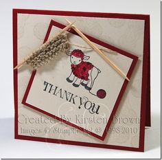 knitting toothpicks, stampin up hand knit stamp set