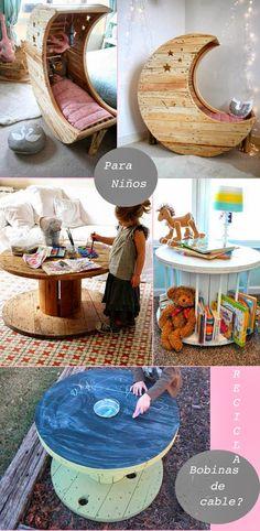 Muebles con ¡bobinas de cable! | Comparte Mi Moda