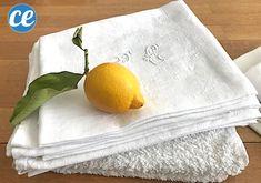 Comment blanchir le linge blanc facilement et naturellement ? Voici les meilleures astuces pour blanchir le linge ancien qui a jauni ou devenu gris en utilisant du : bicarbonate, vinaigre blanc, percabonate, aspirine, citron, eau oxygéné et sans utiliser de javel. Vous pouvez laver le linge à la main ou en machine pour le blanchir. #blanchirlinge Diy Cleaning Products, Textiles, Deco, Voici, Tableware, Home, Art, Cleaning Recipes, Natural Cleaning Products